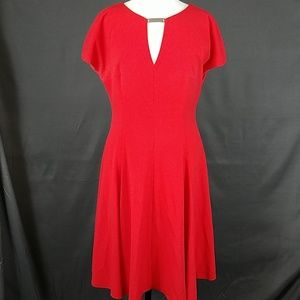 3 for $10- Anne Klein size 10 dress tomato red